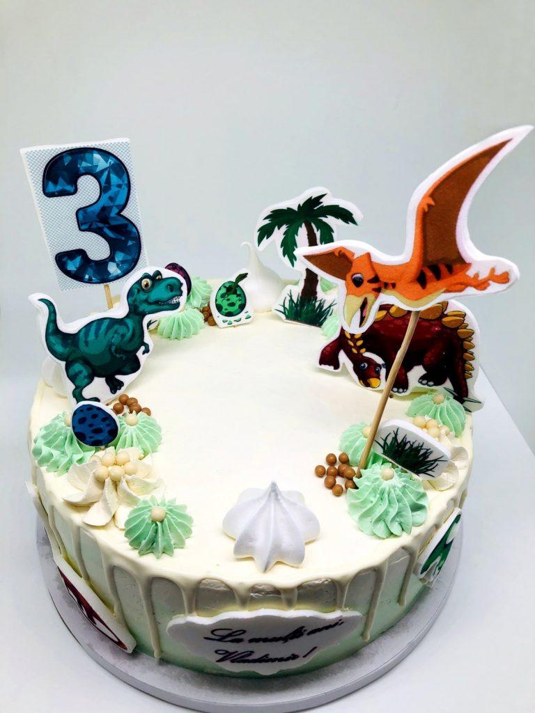 torturi personalizate - tort aniversar cu dinozuri