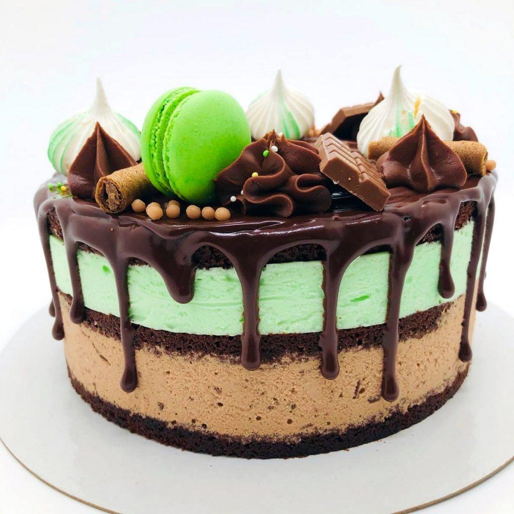 Tort choco-mint cu ciocolata si menta – tort la comanda Bucuresti